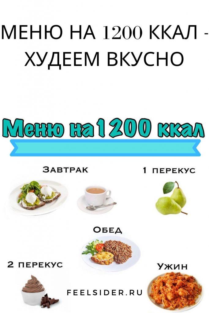 МЕНЮ НА 1200 ККАЛ - худеем вкусно