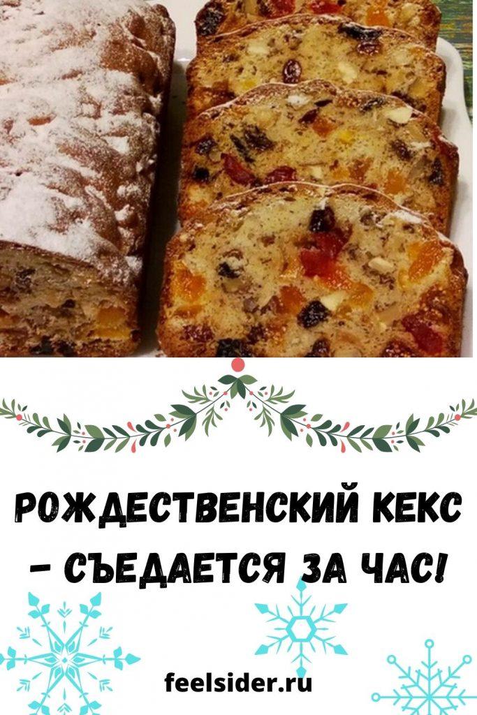 Рождественский кекс - съедается за час!