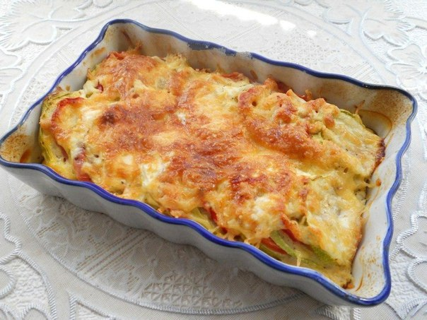 Кабачки запеченные с помидорами и сыром - пальчики оближешь!