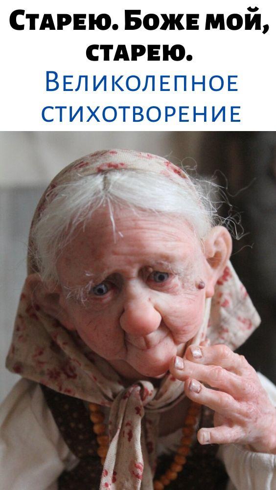 Старею. Боже мой, старею. Великолепное стихотворение