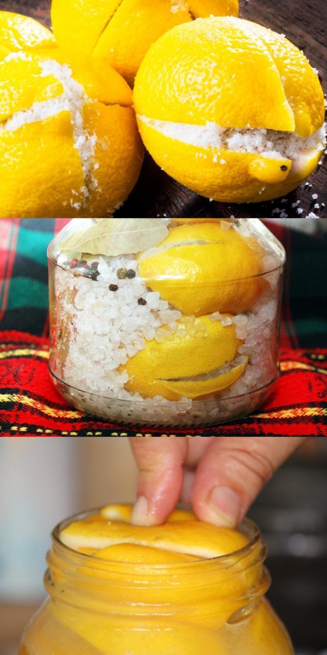 Зачем засыпать солью разрезанные накрест лимоны