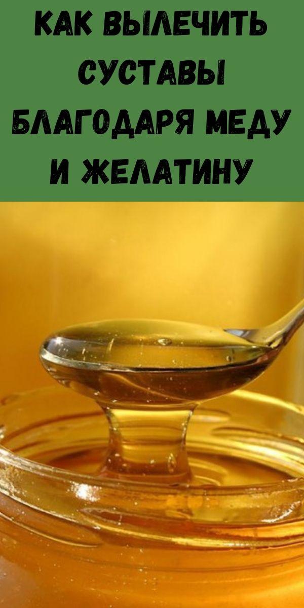 Как вылечить суставы благодаря меду и желатину