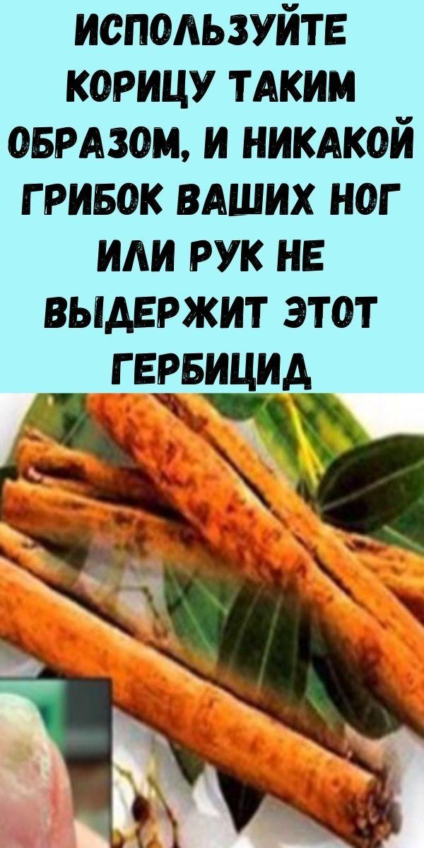 Используйте корицу таким образом, и никакой грибок ваших ног или рук не выдержит этот гербицид