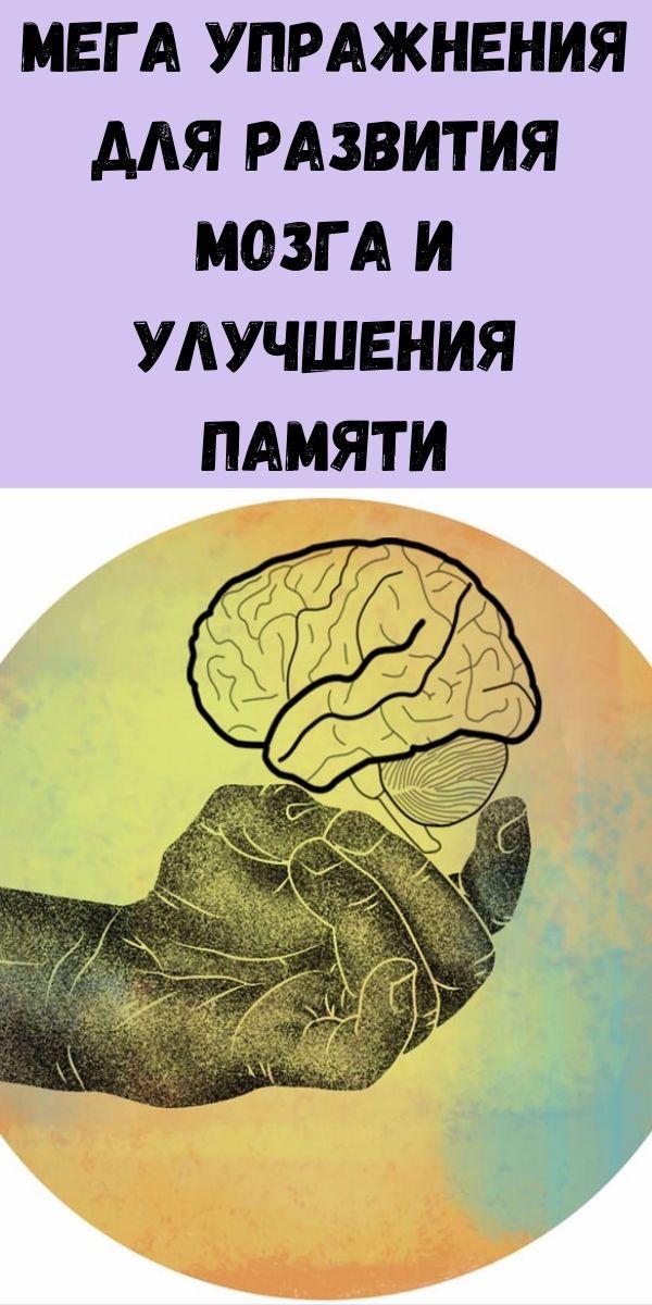 Мега упражнения для развития мозга и улучшения памяти