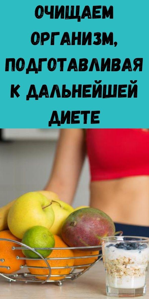 Очищаем организм, подготавливая к дальнейшей диете