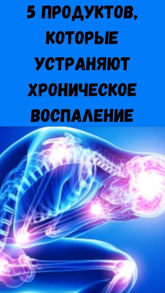 5 продуктов, которые устраняют хроническое воспаление