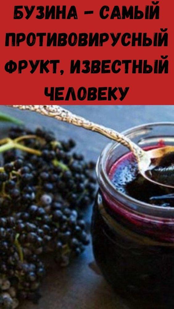 Бузина - самый противовирусный фрукт, известный человеку