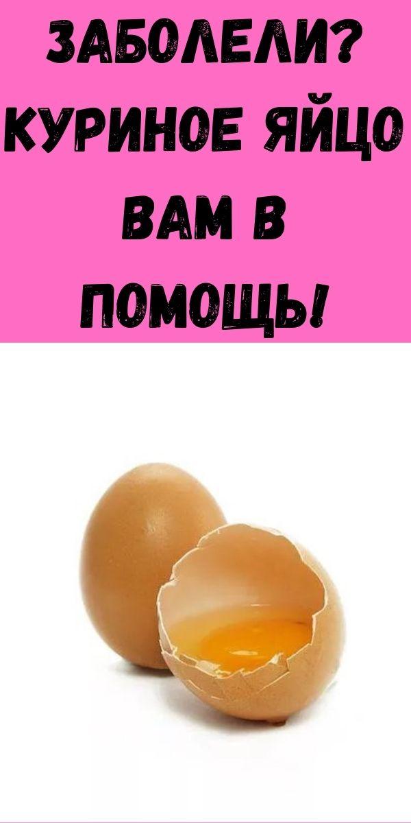 Заболели? Куриное яйцо вам в помощь!