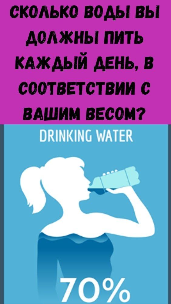 Сколько воды вы должны пить каждый день, в соответствии с вашим весом?