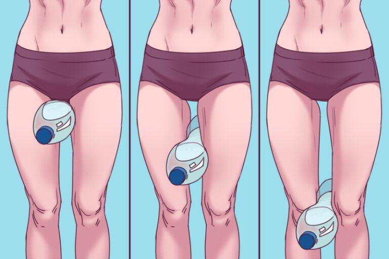 похудеть в ногах с помощью бутылки