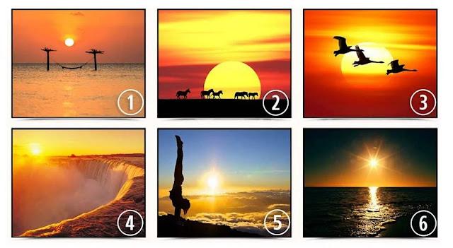 Выберите закат на изображении и получите совет, который поможет вам в будущем