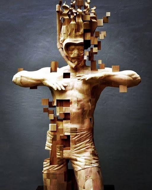 Реалистичные скульптуры из дерева: мурашки по коже от такой красоты